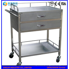 Mobiliário hospitalar Multi-Function Stainless Steel Hospital Trolley