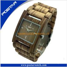 100% bande de haute qualité et mouvement de montre en bois