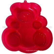 Molde de bolo de silicone em forma de urso (RS39)