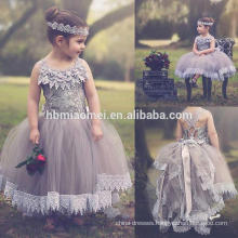 3-8 year old tulle puffy embroidered girl princess dress for birthday party