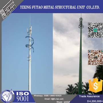 50FT Telecommunication Pole With Galvanized