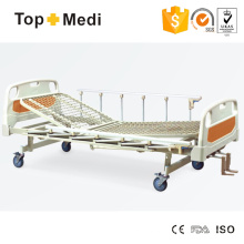 Topmedi Hospital Pedal Locking Manual Three Function Steel Hospital Bed