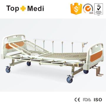 Pedal del hospital de Topmedi que bloquea la cama de hospital de acero de tres funciones de la función