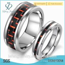 Atacado jóias de alta qualidade prata personalizada anéis de carboneto de tungstênio