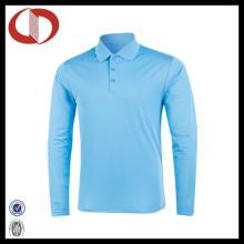 100% Polyester Langarm Pique Polo Shirt für Männer