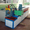 Rolling shutter door metal processing equipment / fireproof shutter door panel roll formingmachine with punching press