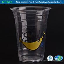 Copo de plástico de 16 onças para bebidas com boa qualidade