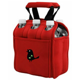 useful red 6 pack neoprene bottler cooler