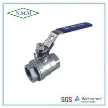 Stainless Steel Full Bore Threaded End 2PC Ball Valve in 1000wog