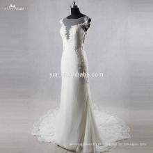 Vestidos de casamento sem mangas feitos na fábrica