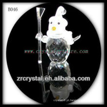 K9 boneco de neve de cristal vívido
