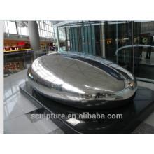 Outdoor stainless steel mirror polish art egg sculpture