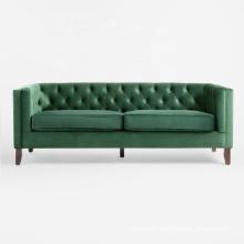 Wholesale Furniture Settee Wooden Modern 2 seater fabric velvet Leisure Loveseat sofa