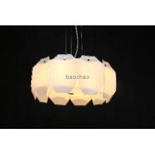 Glass shade pendant lamp