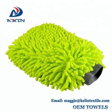 Chenille Microfiber Premium Scratch-Free Wash Mitt, Wash Glove Lime Green