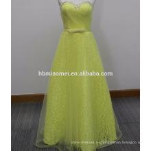 2017 nuevo vestido de fiesta largo enening vestido de noche de la correa colorida atado delgado hombro largo vestido de noche de cuentas de diseño