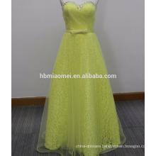 2017 new long party enening dress Colorful laced back strap evening dress slim off shoulder long design beaded evening dress