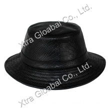 Fashion Snakeskin Leather Hat Bucket Hats