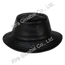 Мода Змеиные кожаные шляпы ведро Шляпы
