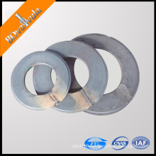 Forged pipe pile end plate blank