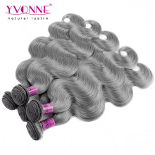 New Arrival Body Wave Brazilian Gray Hair Weave