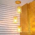 Loft Licht American Retro Kristall Kronleuchter Kreative kleine Eisenrahmen Vintage Pendelleuchte