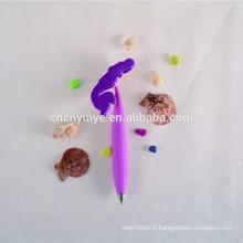 Sur mesure imprimante de soft pvc stylo à bille publicitaire