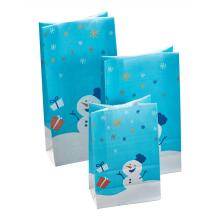 Christmas Holiday Snowman Kraft Paper Bag