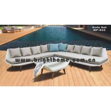 Sofá de Móveis de Vime de Rattan Set Bp-833
