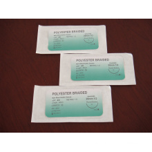Surgical Atraumatic Suture-Polyester Braided