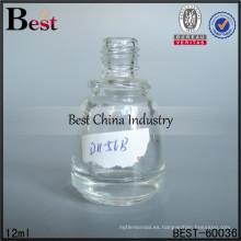 Botellas de clavos de 12 ml con cuello de rosca; botellas de aceite de perfume de venta caliente en dubai; botella de vidrio superventas en los Emiratos Árabes Unidos