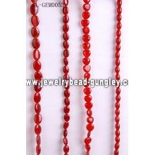 Gemstone carnelian bead