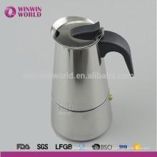 Vente chaude Moka Cafetière LFGB / FDA café expresso de sécurité alimentaire, cafetière moka