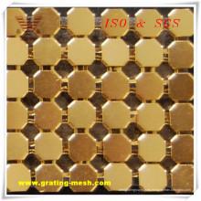 Malla de curatin de metal de alta calidad para decorativo (ISO)