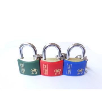 Iron Rhombic Type Curved Plastic Waterproof Cover Padlock