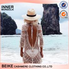 2017 summer fashion design crochet hollow out woman sexy beach dress