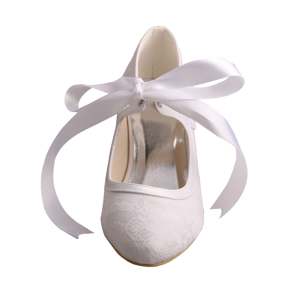 Low Heel Lace Bridal Shoes 5