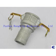 Raccord de tuyau flexible en aluminium avec collier