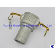 Aluminum flexible hose coupling with collar