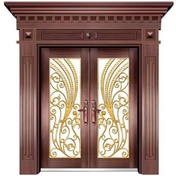 puerta de doble hoja de acero inoxidable