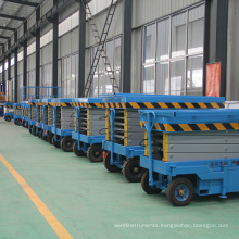 Agent price high quality hydraulic mobile scissor lift