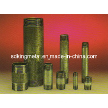 Galvanizado en caliente de acero al carbono Bs Barrel Nipple