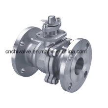 10k Stainless Steel Two Pieces Flange Ball Valve