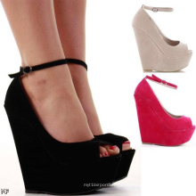 Klassische Mode High Heel Wedge Lady Schuhe (H 62)