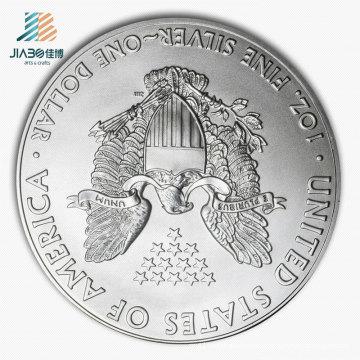 Hot Sell Emboss Logo Metal Craft Promotional Silver Souvenir Coin