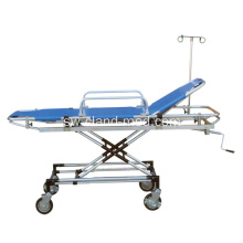 Kichwa cha Adjustable Hospital Hospitali ya Aluminim Rescue Bed
