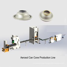 aerosol can dome bottom lid making machine