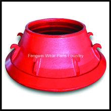 Pièces de concasseur de cône à moulage à haute teneur en manganèse compatibles avec Metso