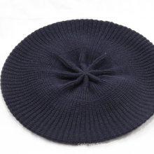 Chapeau tricoté (bonnet tricoté et impression Beanie Hat) pur bonnet en tricot de cachemire