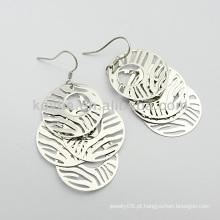 Dubai moda quente venda 925 prata esterlina dangle brincos